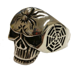 VJ1037 Stainless Steel Men's Spider Skull Ring