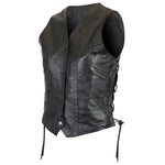 VL1049 Women's Premium Cowhide Studded Leather Vest - Daytona Bikers Wear