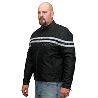 Vance Leather VL1527 Men's Twin Stripe Textile Jacket (choice of colors)