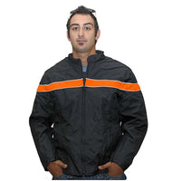 VL1561 Men's Textile Jacket with Accent Stripe and Reflective Piping