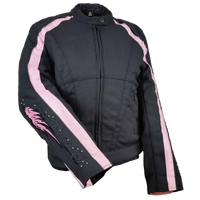 VL1582  Ladies Textile Jacket with Reflective Wings on Back and Sleeve