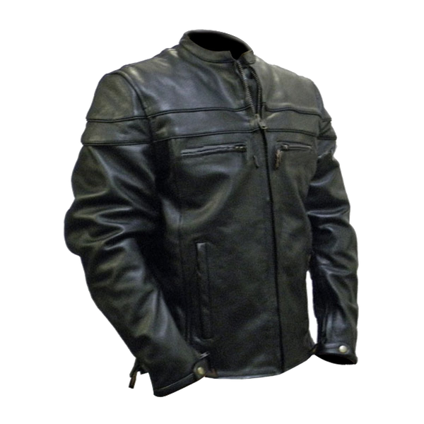 VL531 Vance Leather Men's Racer Jacket with Vents