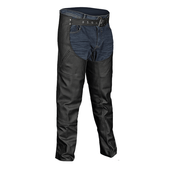VL812 Vance Leather Premium Leather Deep Pocket Leather Chaps