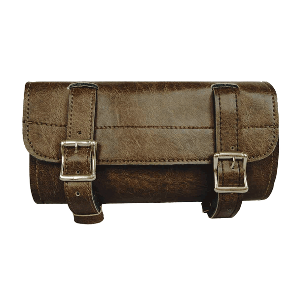 VS111DB Distressed Brown 2 Strap Plain Tool Bag with Quick Releases