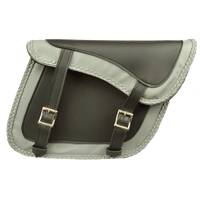 VS205GB Slanted Black and Grey Concealed Carry Braided Saddlebags with and without Studs
