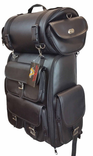 VS349 Vance Leather Large - 2 Piece Travel Bag/Back Pack - Daytona Bikers Wear