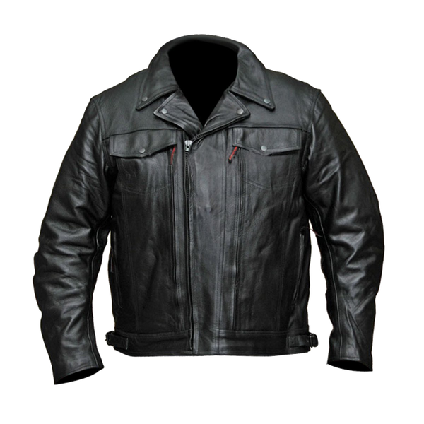 VL512 Vance Leather Men's Double Pistol Pete Leather Jacket