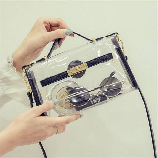 Small Transparent Handbag w/Shoulder Strap
