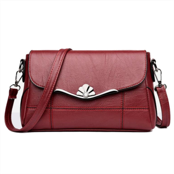Sequine Flap Crossbody Bag w/Metal Deco