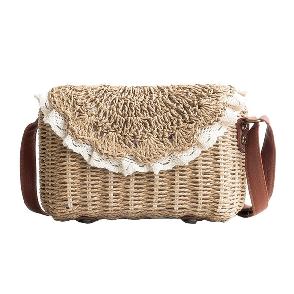 Straw woven Bohemian Shoulder Bag