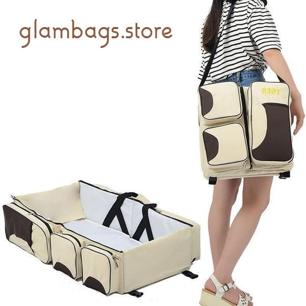 Baby 3 in 1 Portable Changing Station Diaper Bag Tote