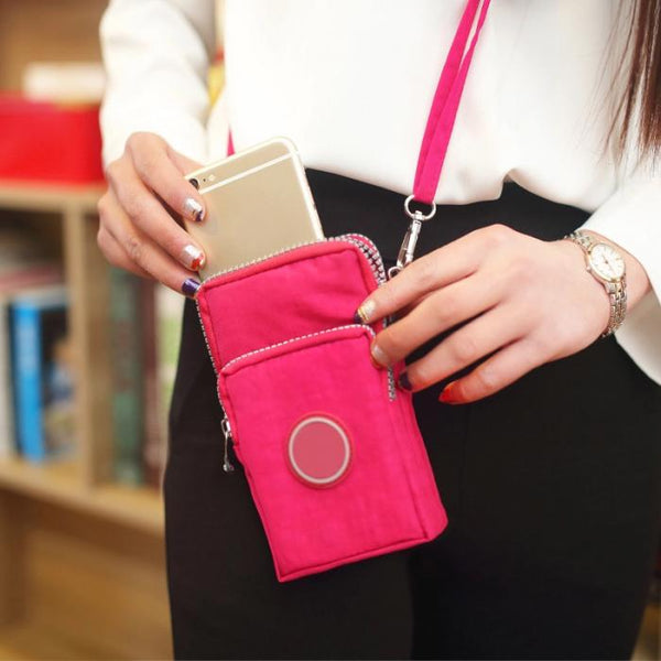 Shoulder Phone Bag w/Hand Strap