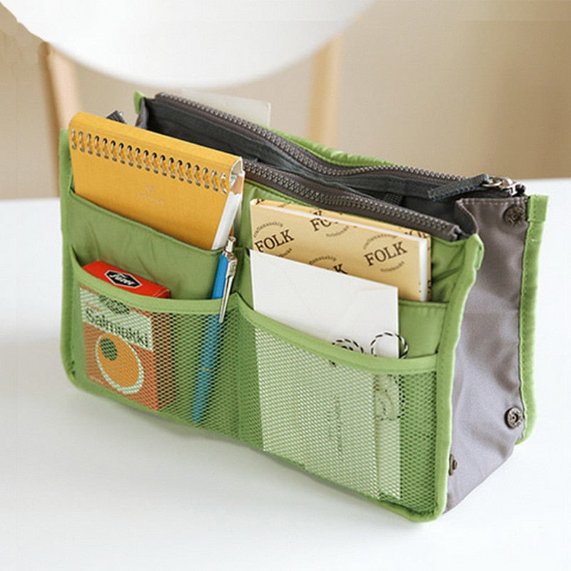 Organizer Purse w/Outside Mesh Pockets