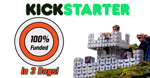Nerf forts 100% funded on kickstarter in just a few days