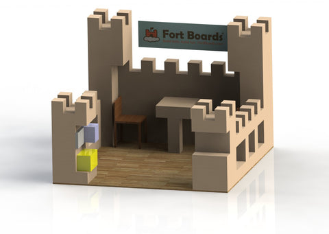 Castle built out of fort building toys