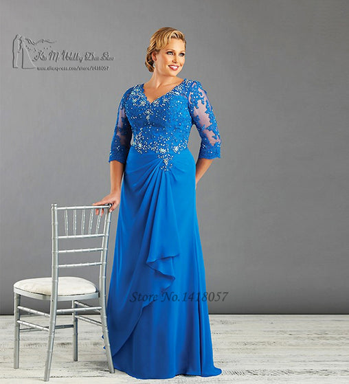 Blue Ivory Plus Size Mother of the Bride Dresses