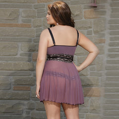 Women Microfiber G-String Nightie