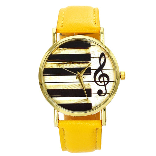 Women's Piano Musical Notation Watch