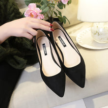 Load image into Gallery viewer, Women Suede Flats Shoes