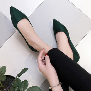Women Suede Flats Shoes