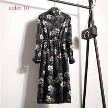 Load image into Gallery viewer, Women High Elastic Waist Vintage A-line Style Dress