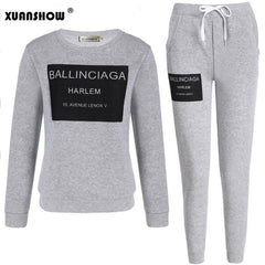 Women  Printed Letters Casual Set