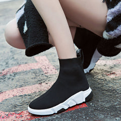 Women Elastic Sneakers Shoes