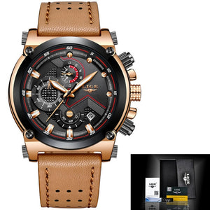 Mens Luxury Brand Waterproof Sport Clock