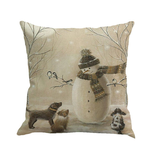 Christmas Printing Dyeing Pillow