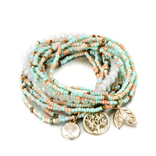 Load image into Gallery viewer, Tree Leave Charm Beads Bracelets For Women