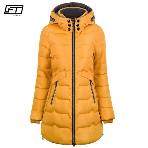 Women's Plus Size Long Winter Jacket