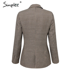 Women Simple Office Blazer