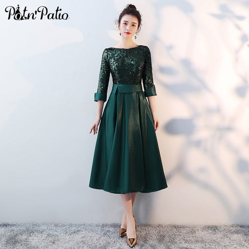 Green Medium Long Mother Of The Bride Dresses