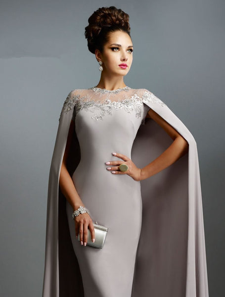 Long Muslim Prom Mother Of The Bride Dress