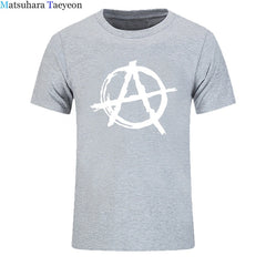Men Anarchy Symbol T Shirt