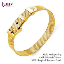 Load image into Gallery viewer, Diylocket 8mm 10mm 18mm Stainless Steel Bracelet