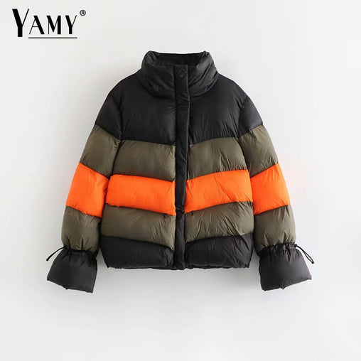Women's Color block winter jacket