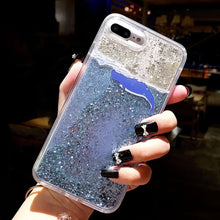 Load image into Gallery viewer, Glitter Bottle Phone Case For iPhone X XS Max XR Bling Flowing Love Heart Case For iPhone 8 7 6 6s Plus