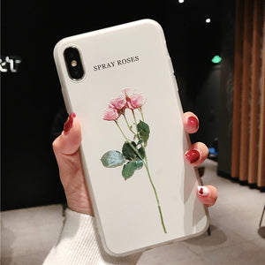 Green Leaves Case For iPhone Xs XR XS Max X