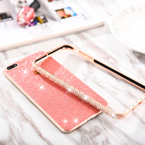 Rhinestone Frame & Bumper Case for iPhone 7 8 Plus 6 6S Plus XS MAX