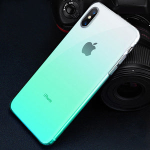 Phone Case For iPhone X XR XS Max 6 S 6S 7 8 Plus 7Plus Transparent Soft Silicone Colorful Cover Case
