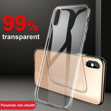 Load image into Gallery viewer, Phone Case For iPhone X XR XS Max 6 S 6S 7 8 Plus 7Plus Transparent Soft Silicone Colorful Cover Case