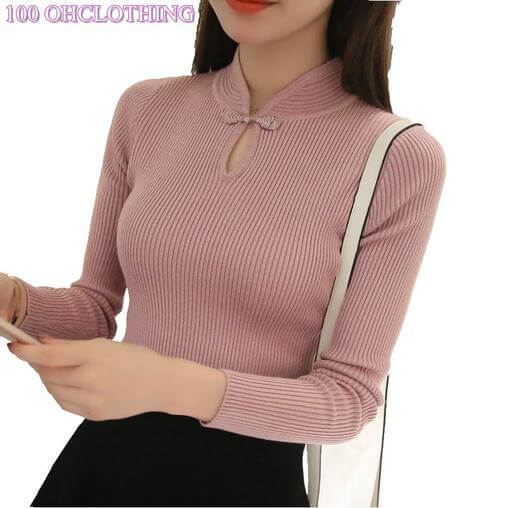 Thickened half turtleneck sweater