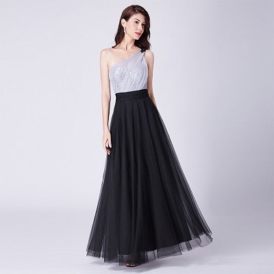 Women's Sexy Sleeveless Backless A-line Tulle Prom Dress