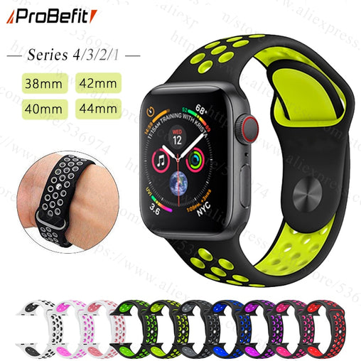New Breathable Silicone Sports Band for Apple Watch