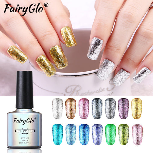 10ML Nail Polish Glitter Gel Varnish