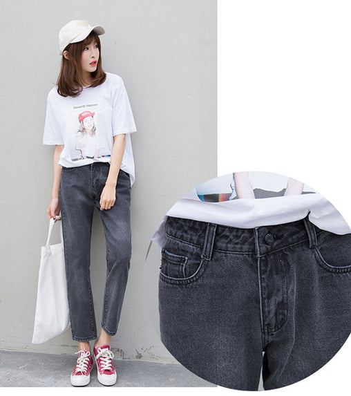 Woman Denim Harem Pants