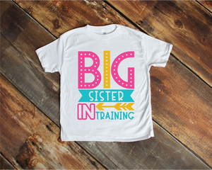 Big Sister in Training Child Tee