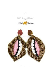 Load image into Gallery viewer, Gold Lip Earrings