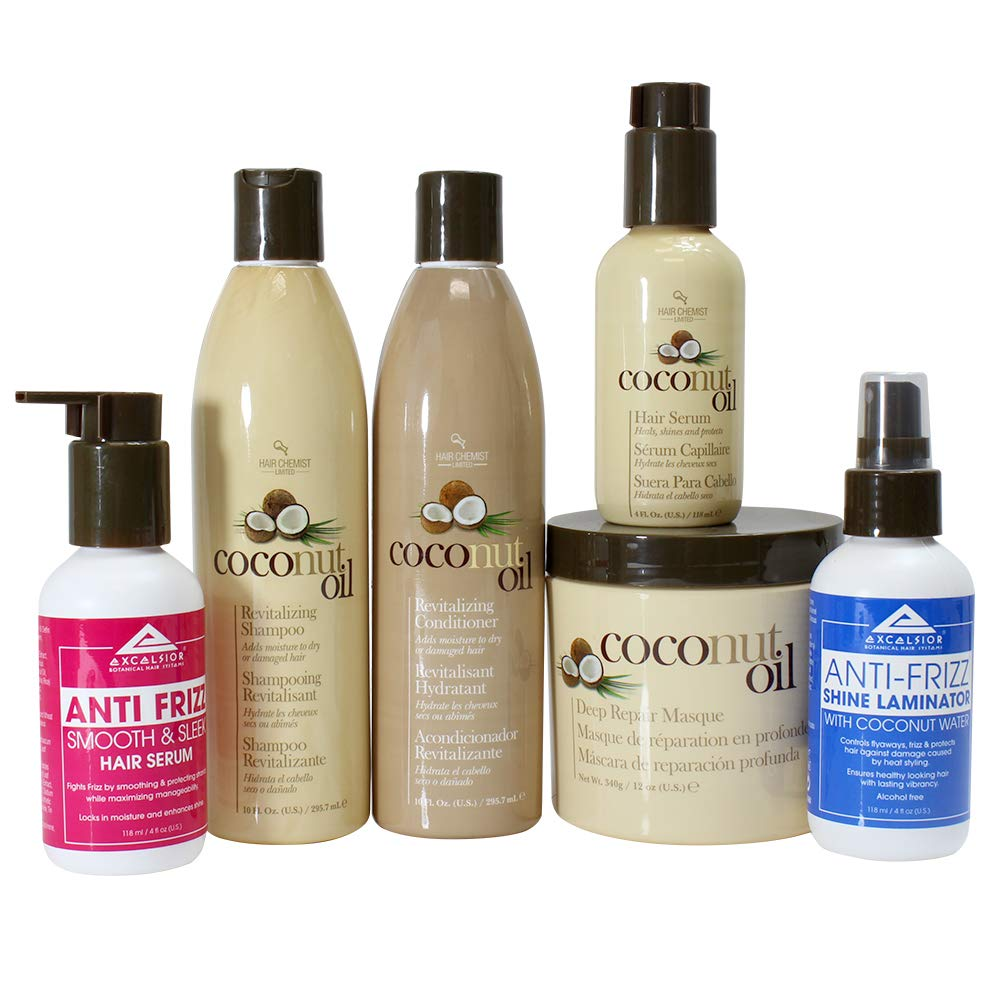 Ultimate Coconut Shampoo, Conditioning and Hair Treatment 6-PC Set